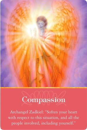 Compassion from Archangel Zadkiel of the Archangels Oracle Cards