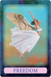 Freedom from Indigo Angel Oracle Cards