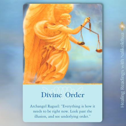 天の導き・天の秩序/Divine Order 〜大天使オラクルカード