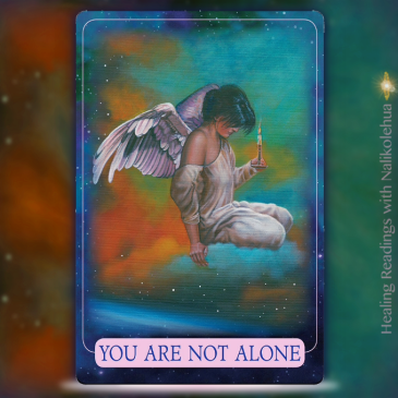You are not alone of the Indigo Angel Oracle Cards