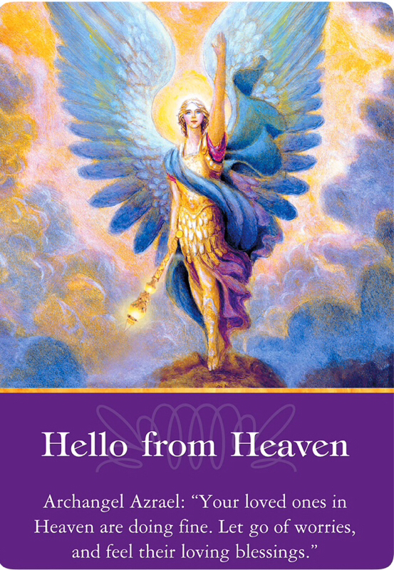Hello from Heaven from Archangel Azrael of Archangels Oracle Cards