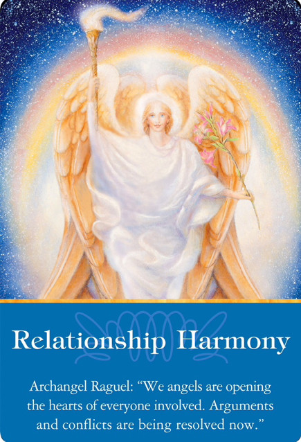 Relationship Harmony from Archangel Raguel of Archangels Oracle Cards