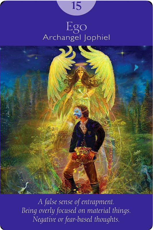 Ego from Archangel Jophiel of Angel Tarot Cards