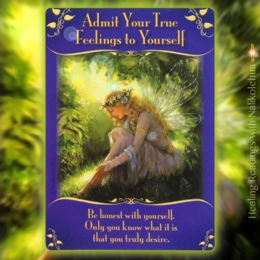 Admit Your True Feelings to Yourself from Magical Messages from the Fairies Oracle Cards