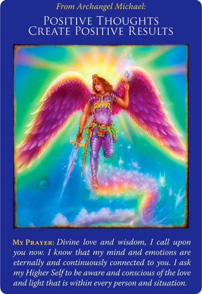 Positive Thoughts Create Positive Results from Archangel Michael Oracle Cards