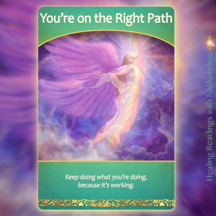 You're on the Right Path from the Life Purpose Oracle Cards