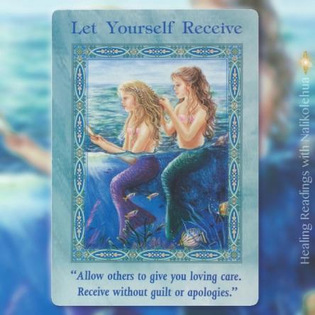 受け取る、受け入れる/Let Yourself Receive マーメイド&ドルフィンオラクルカード