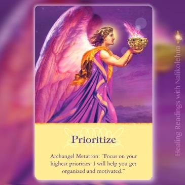 Prioritize/優先順位をつける 大天使メタトロンより 〜大天使オラクルカード