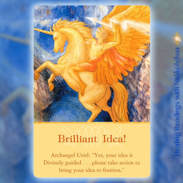 Brilliant Idea from Archangel Uriel of Archangel Oracle Cards
