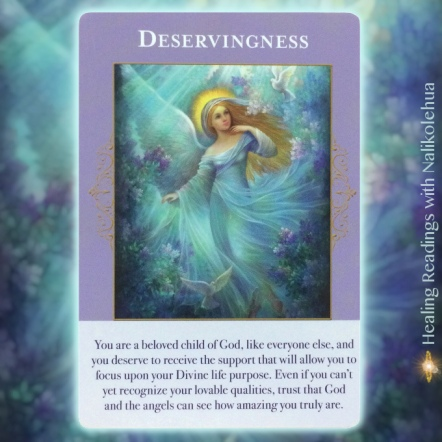 Deservingness from the Angels of Abundance Oracle Cards