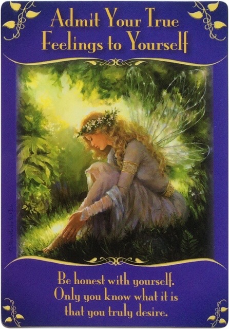 Admit Your True Feelings to Yourself from the Magical Messages from the Fairies oracle cards