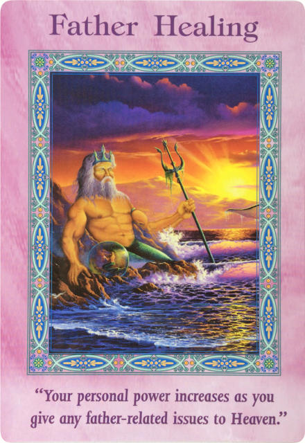 Father Healing (from the Mermaids and Dolphins oracle cards)