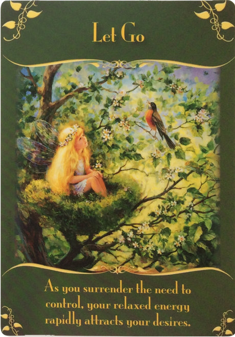 Let Go from the magical messages from the fairies oracle cards
