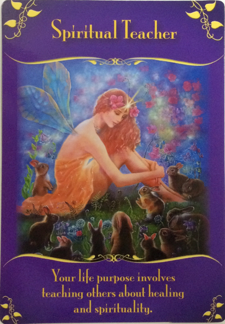 Spiritual Teacher from the Magical Messages from the Fairies oracle cards