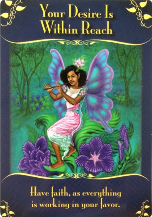 Your Desire Is Within Reach from the Magical messages from the Fairies Oracle Cards