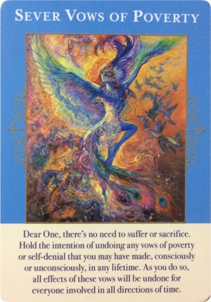 Sever Vows of Poverty ~ Angels of Abundance Oracle Cards