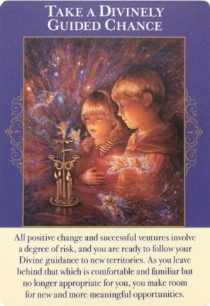 神聖な導きでチャンスをつかむ/Take a Divinely Guided Chance エンジェルオブアバンダンスオラクルカードより
