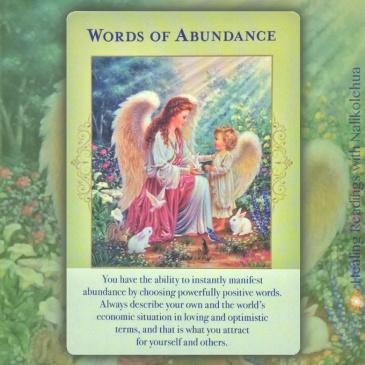 豊かさの言葉/Words of Abundance エンジェルオブアバンダンスオラクルカードより