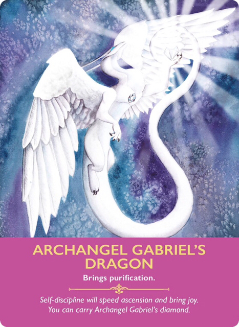 Archangel Gabriel's Dragon from the Dragon Oracle Cards