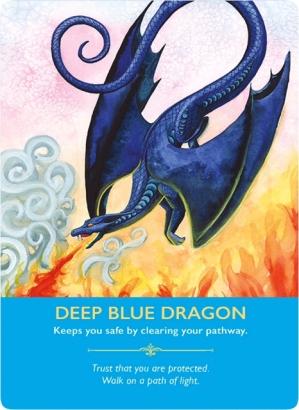 Deep Blue Dragon/ディープブルードラゴン ドラゴンオラクルカードより