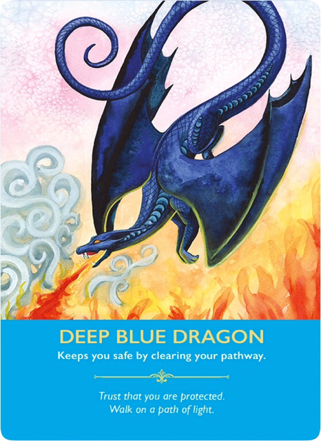 Deep Blue Dragon from the Dragon Oracle Cards