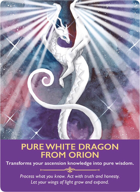 Pure White Dragon from Orion from the Dragon Oracle Cards