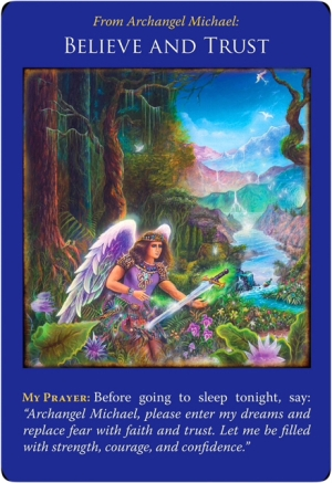 Believe and Trust from the Archangel Michael Oracle Cards