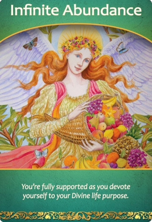 Infinite Abundance from Life purpose oracle cards