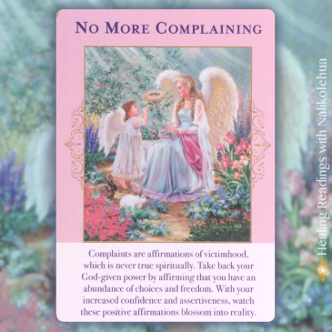 No More Complaining from the Angels of Abundance oracle cards