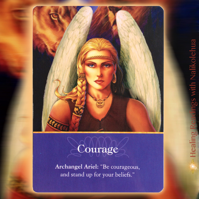 Courage from Archangel Ariel of Archangel Oracle Cards