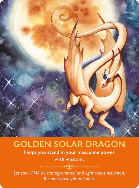 Golden Solar Dragon/ゴールデンソーラードラゴン ドラゴンオラクルカードより