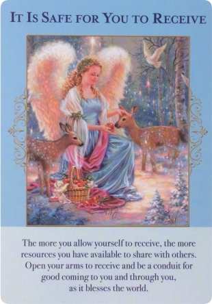 It Is Safe for You to Receive from Angels of Abundance Oracle Cards