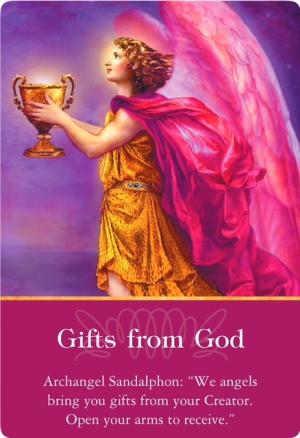 大天使サンダルフォンから《Gifts from God/神からの贈り物》〜大天使オラクルカード