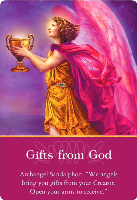 Gifts from God from Archangel Sandalphon of the Archangels Oracle Cards