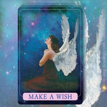 願いごとをする/Make a Wish インディゴエンジェルオラクルカードより