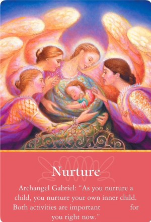 Nurture from Archangel Gabriel of the Archangels Oracle Cards