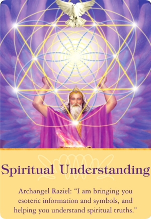 Spiritual Understanding from Archangel Raziel of the Archangels Oracle Cards