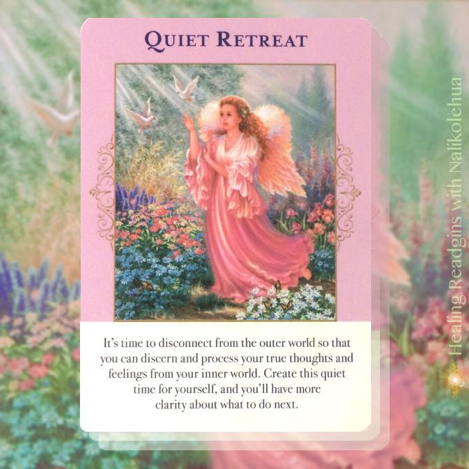 静かな隠れ家/Queit Retreat エンジェルオブアバンダンスオラクルカードより