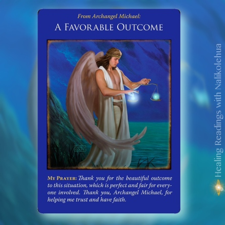 A Favorable Outcome from Archangel Michael Oracle Cards