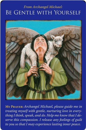 Be Gentle with Yourself from Archangel Michael Oracle Cards