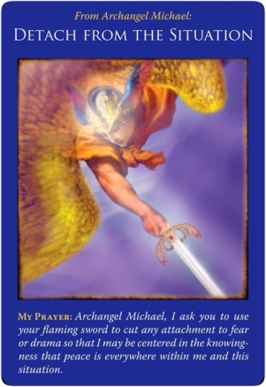 Detach from the Situation from Archangel Michael Oracle Cards