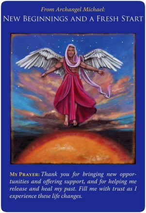 New Beginnings and a Fresh Start from Archangel Michael Oracle Cards