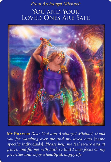You and Your Loved Ones are Safe from Archangel Michael Oracle Cards