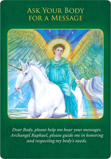 Ask Your Body for a Message from Archangel Raphael Healing Oracle Cards