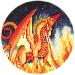 Fire Dragon from Dragon Oracle Cards