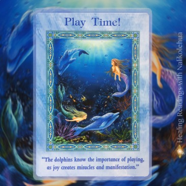 Play Time! from the Magical Mermaids & Dolphins Oracle Cards
