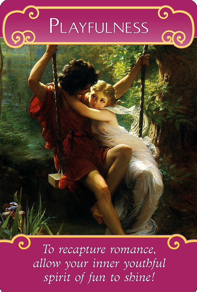 Playfulness from the Romance Angels Oracle Cards