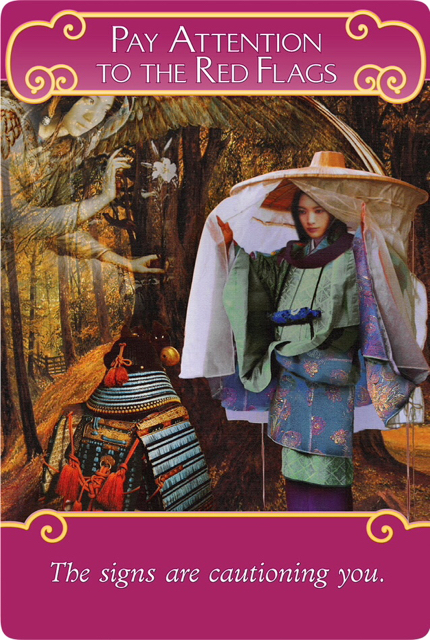 Pay Attention to the Red Flags from the Romance Angel Oracle Cards