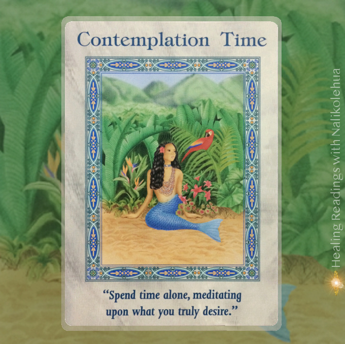 Contemplation Time from the Magical Mermaids & Dolphins Oracle Cards