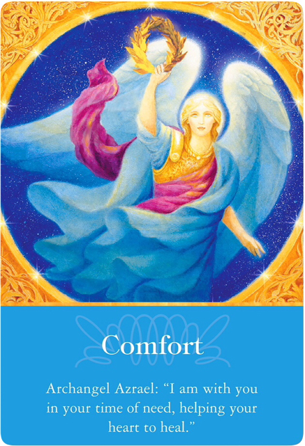 Comfort from Archangel Azrael of Archangels Oracle Cards
